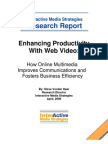 Enhancing Productivity With Web Video