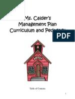 Kindergarten Management Plan