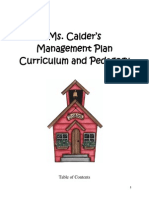 Kindergarten Management Plan