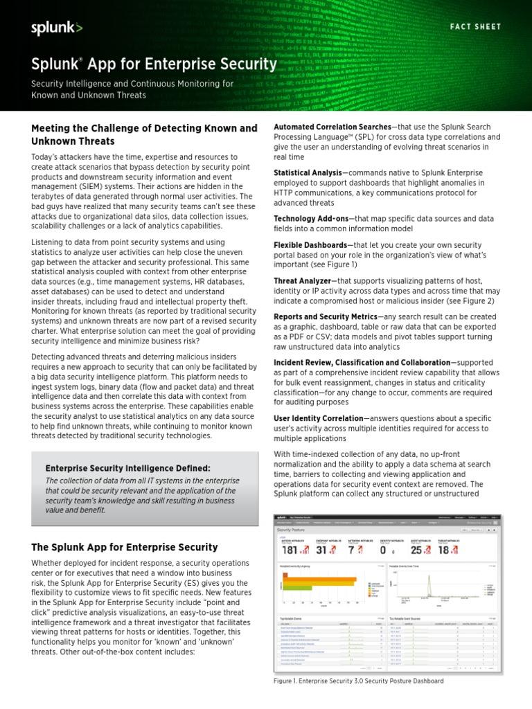 Splunk App for Enterprise Security   Threat (Computer