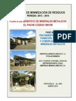 1.- Inf. Minimizacion Desechos - p.b El Pache-emicor 2013