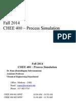 CHEE 400 Process Simulation F2014 08-25-2014(1)