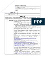 HSO701 Sociologia II