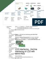 Tutorial for LCD 2nd Lin...Ng 89V51RD2 Starter Kit