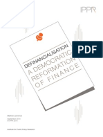 A Democratic Remormation of Finance
