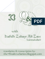 33 Questions and Answers With Hafidh Zubayr Ali Zaee