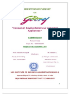 Project report on godrej home appliances