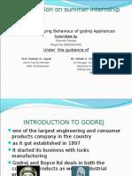 ppt on consumer behaviour on godrej appliances by maman