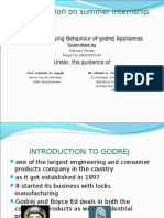 ppt on consumer behaviour on godrej appliances by maman