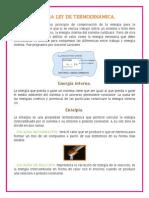 Primera Ley de Termodinámica y Sistema Termodinámico.