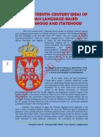 Vladislav B Sotirovic Two 19th c Ideas of Serbian Language Based Nation and Statehood