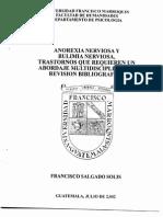 Anorexia y Bulimia, Trastornos Para La Multidisciplina, Revision Bibliografica