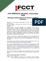 09Dec09 Burma's Political Prisoners win FCCT Photojournalism Award