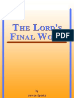 The Lord's Final Work