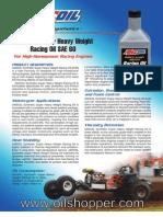 SAE 60 Synthetic Racing Oil buy online at www.oilshopper.com