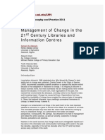 Management of Change in Libraries
