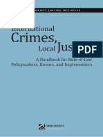 International Crimes Local Justice