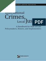 International Crimes Local Justice