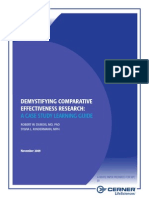 Demystifying Comparative Effectiveness Research
