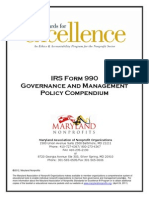 Compendium of Form 990 Policies May 2012 for Maryland
