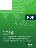 Anni 2014 Report on NHRIs of Asia