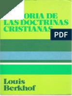 Historia de Las Doctrinas Cristianas Louis Berkhof