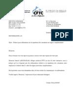 courrier relance (répartition cotisations mutuelle)