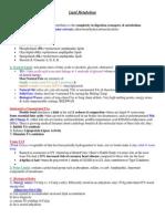 Lipid Metabolism Notes