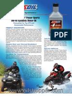 Formula 4-Stroke® PowerSports 0W-40 Synthetic Motor Oil