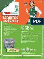Taquitos Dulces de Manzana 1