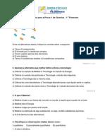 Prova de Quimica 1-1 Trimestre
