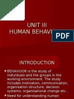 UNIT III Human Behaviour