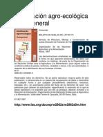 Zonificación Agroecologica FAO