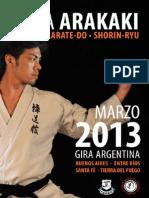 Revista Seminario Ryuta Arakaki Argentina 2013