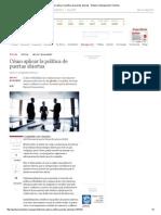 Cómo Aplicar La Política de Puertas Abiertas - Empleo y Management _ Gestión