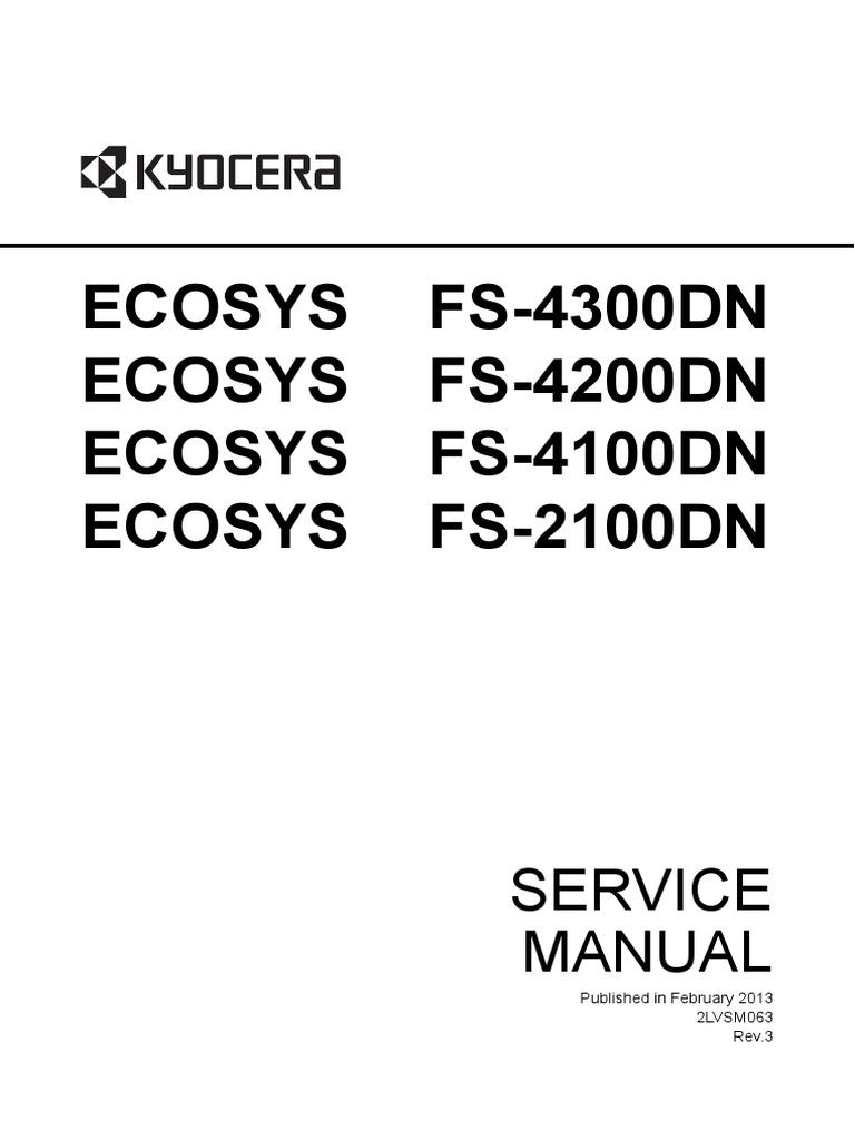 kyocera ecosys fs 2100dn fs 4100dn fs 4200dn fs 4300dn service rh es scribd com dell 3110cn service manual Owner's Manual
