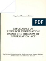 Disclosure of Research Information