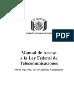 Manual de Acceso a La Ley Federal de Telecomunicaciones