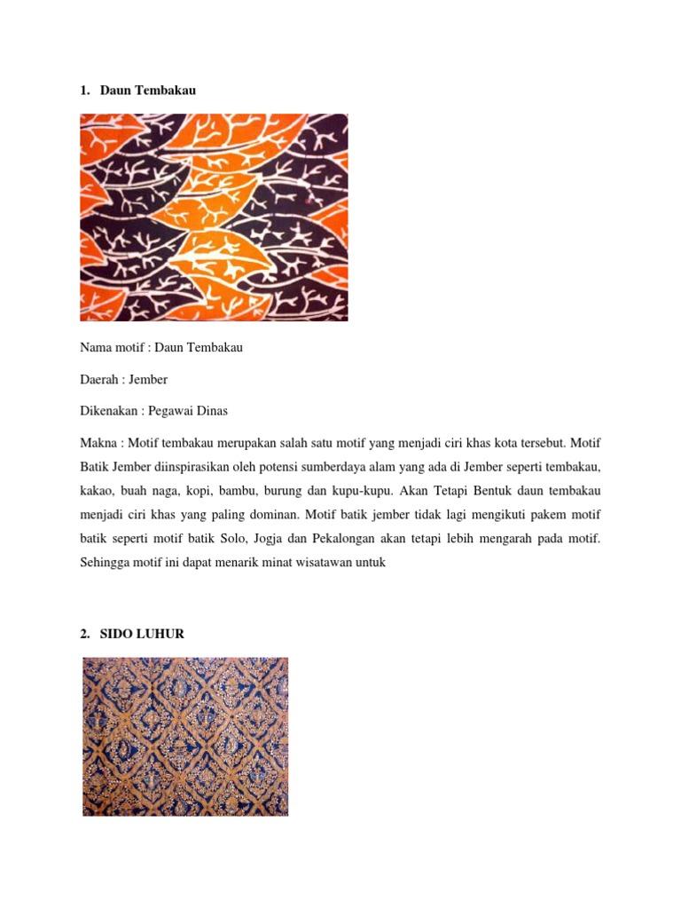 Batik Jember Daun Tembakau