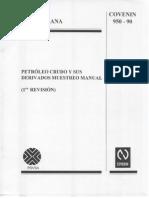 Petroleo Crudo y Sus Derivados Muestreo Manual 950-90