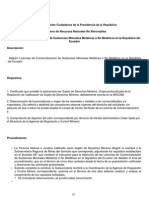 Licencias de Comercialización de Sustancias Minerales Metálicas o No Metálicos en La República Del