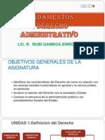 Fundamentos y Derecho Administrativo i. Clase 1 y 2