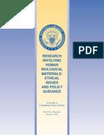 Research Involving Human Biological Materials