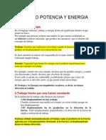 Trabajo Potencia y Energia