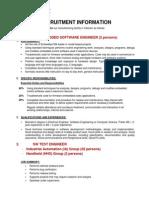 DATALOGIC ADC Vietnam- Recruitment Information Posting- 11-Feb-2014
