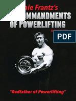 10 Commandments of Powerlifting- Ernie Frantz
