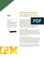 Especificaciones Técnicas IBM System x3650 M4