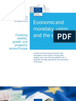 Economic and Monetary Union and the Euro En
