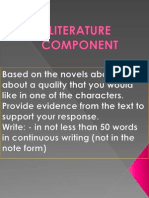 Pt3–Literature Component-john's Character