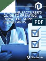 Supplier Scorecards